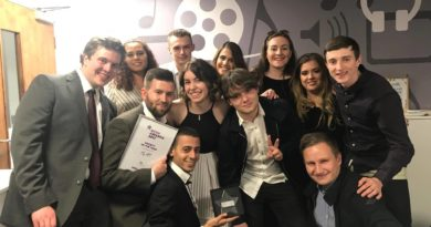 Fly FM Committee with Society of the Year award