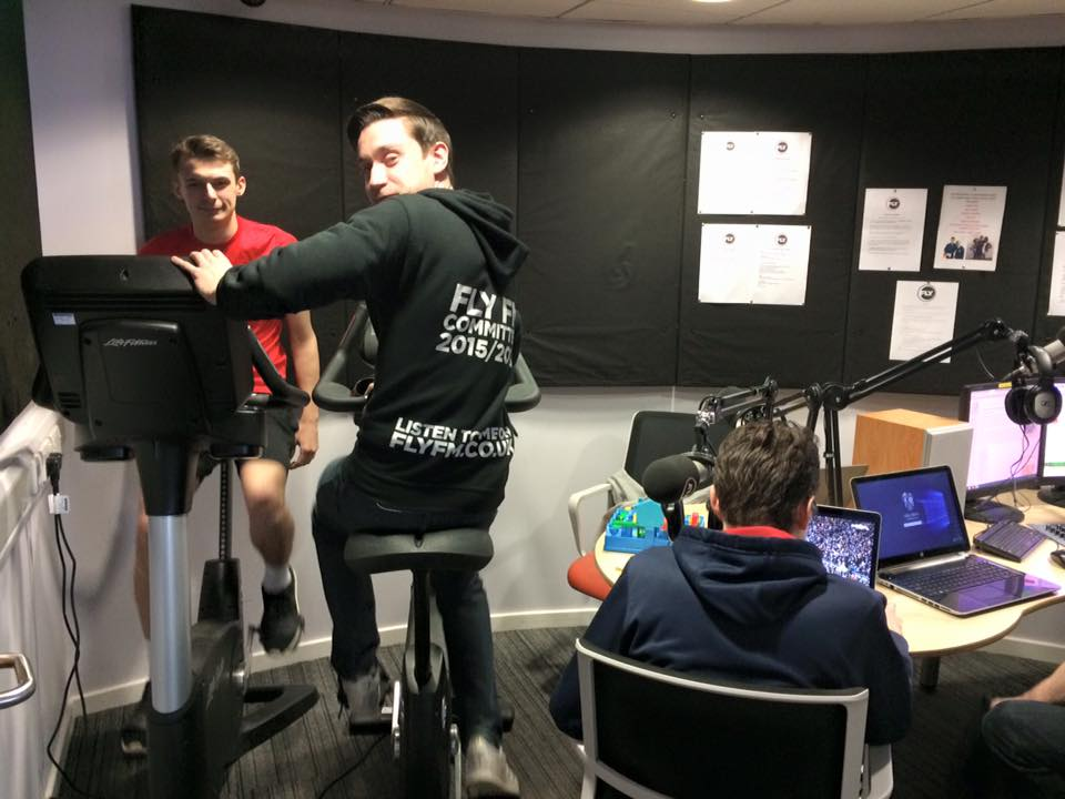 The Fly FM Sport team cycling 100 miles for Sport Relief throughout the Saturday Sport Show